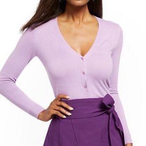 New York & Company Lavender Cardigan